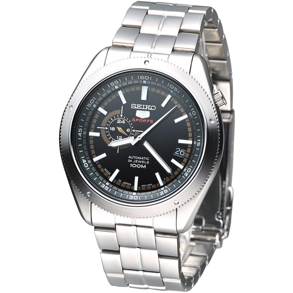 SEIKO 盾牌5號24石自動機械錶(SSA063J1)-黑x香檳金刻度/41mm