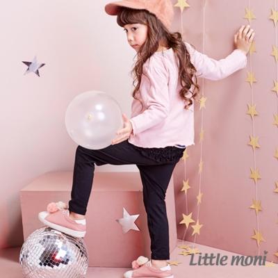 Little moni 甜美荷葉合身褲 (共3色)