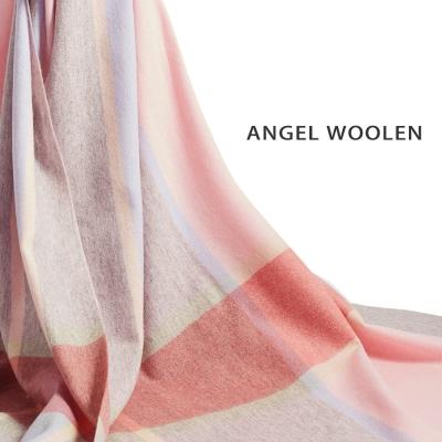Angel-Woolen-玩美彩格100-Cashmere羊絨披肩-圍巾