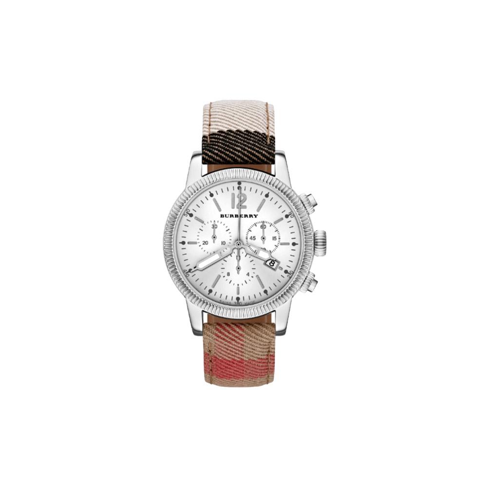 BURBERRY Utilitarian飛行計時腕錶-白x格紋42mm
