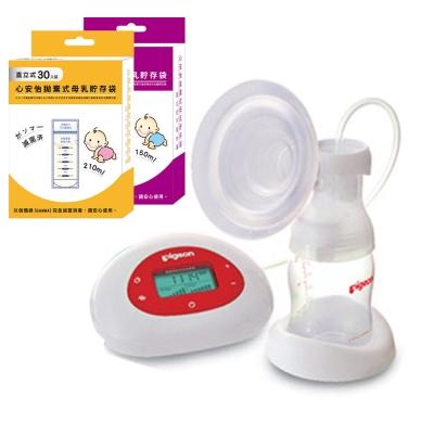 貝親 電動吸乳器Pro+心安怡 拋棄式母乳貯存袋(儲存袋容量任選)
