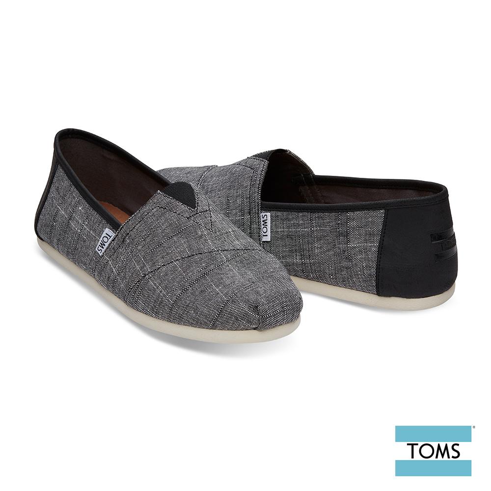 TOMS 混細線拼接帆布休閒鞋-男款