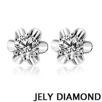 JELY 花蝶天然鑽石耳環