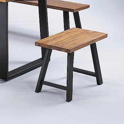 H&D 喬丹柚木2尺短凳 (寬60X深30X高45cm)