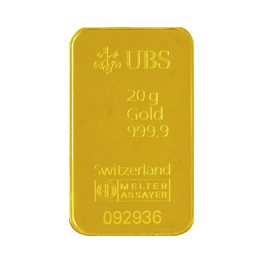 UBS kinebar-黃金條塊(20公克)