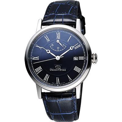 ORIENT 東方錶 復刻動力儲存機械男錶-深藍/38mm