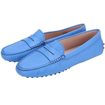 TOD'S GOMMINO MOCASSINO 經典牛皮豆豆休閒鞋(女鞋/藍色)
