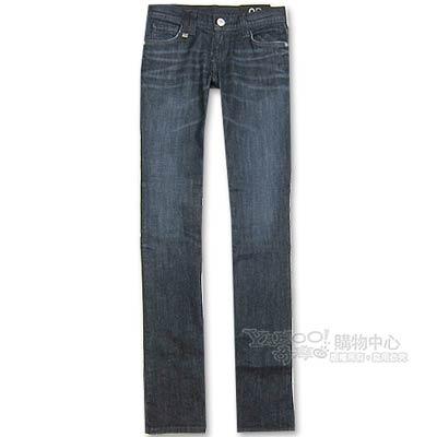 A│X Armani Exchange 修身喇叭女牛仔褲(深藍)