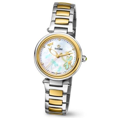 TITONI瑞士梅花錶 炫美系列(23977 SY-589)-珍珠母貝錶盤/33.5mm