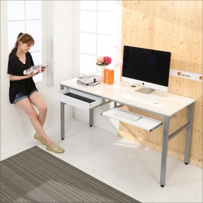 BuyJM 鏡面環保低甲醛一抽一鍵穩重型工作桌-寬160公分-DIY