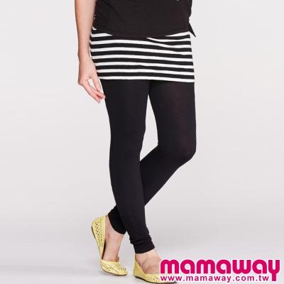Mamaway-孕期褲-裙全長貼腿褲-共二色