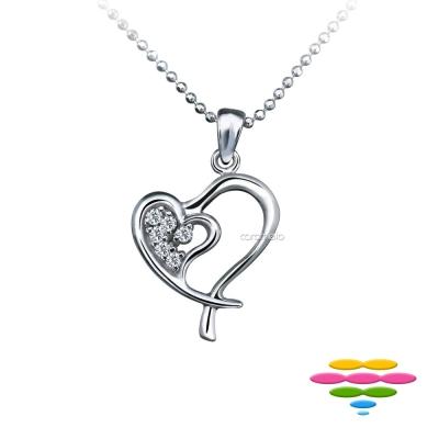 彩糖鑽工坊 18K 愛心鑽石項鍊 連心系列