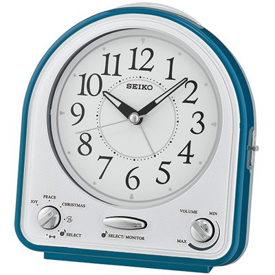 SEIKO 日本精工 貪睡 音樂鬧鐘(QHP003L)-藍/14X13cm