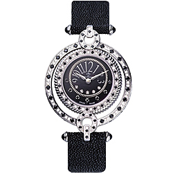 BijouMontre 寶爵潘朵拉寶盒真鑽寶石腕錶-黑/32mm