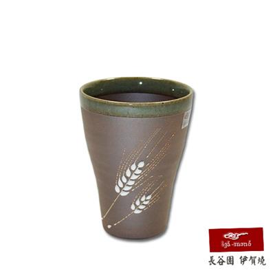 【日本長谷園伊賀燒】日式陶土杯(麥穗款中)
