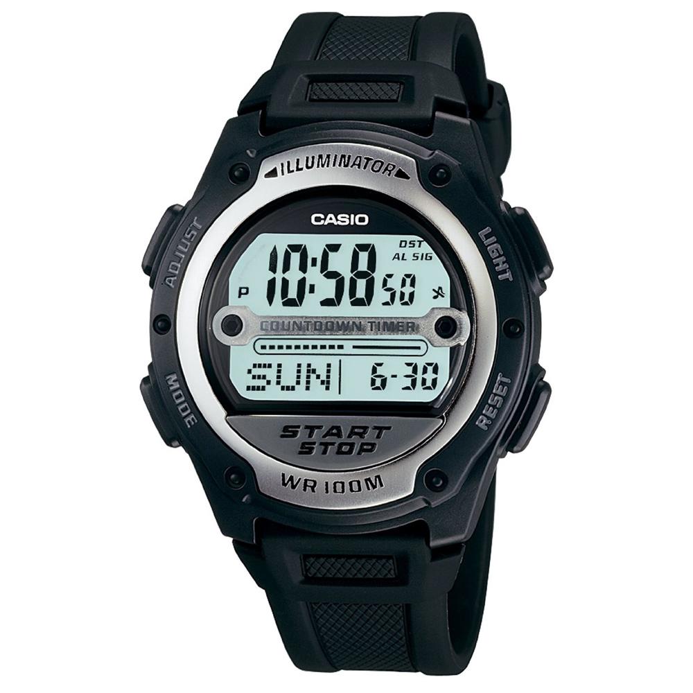 CASIO 10年電力先鋒錶(W-756-1A)-40.6mm