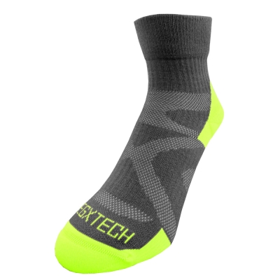 EGXtech《X型》FIX-4 中筒單車運動襪(亮綠)2雙組