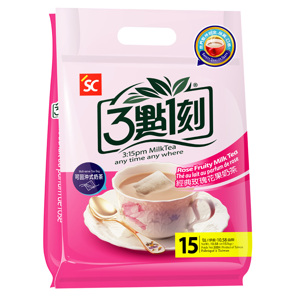 3點1刻 玫瑰花果奶茶(20gx15包)