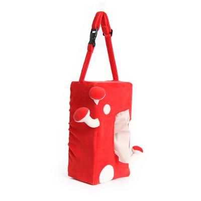 Yvonne Collection蘑菇車用面紙套-紅