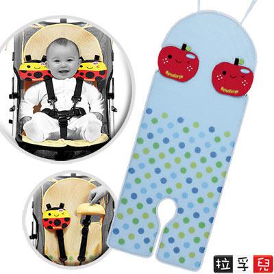 拉孚兒-Naforye-會呼吸推車-汽座通用透氣墊-蘋果