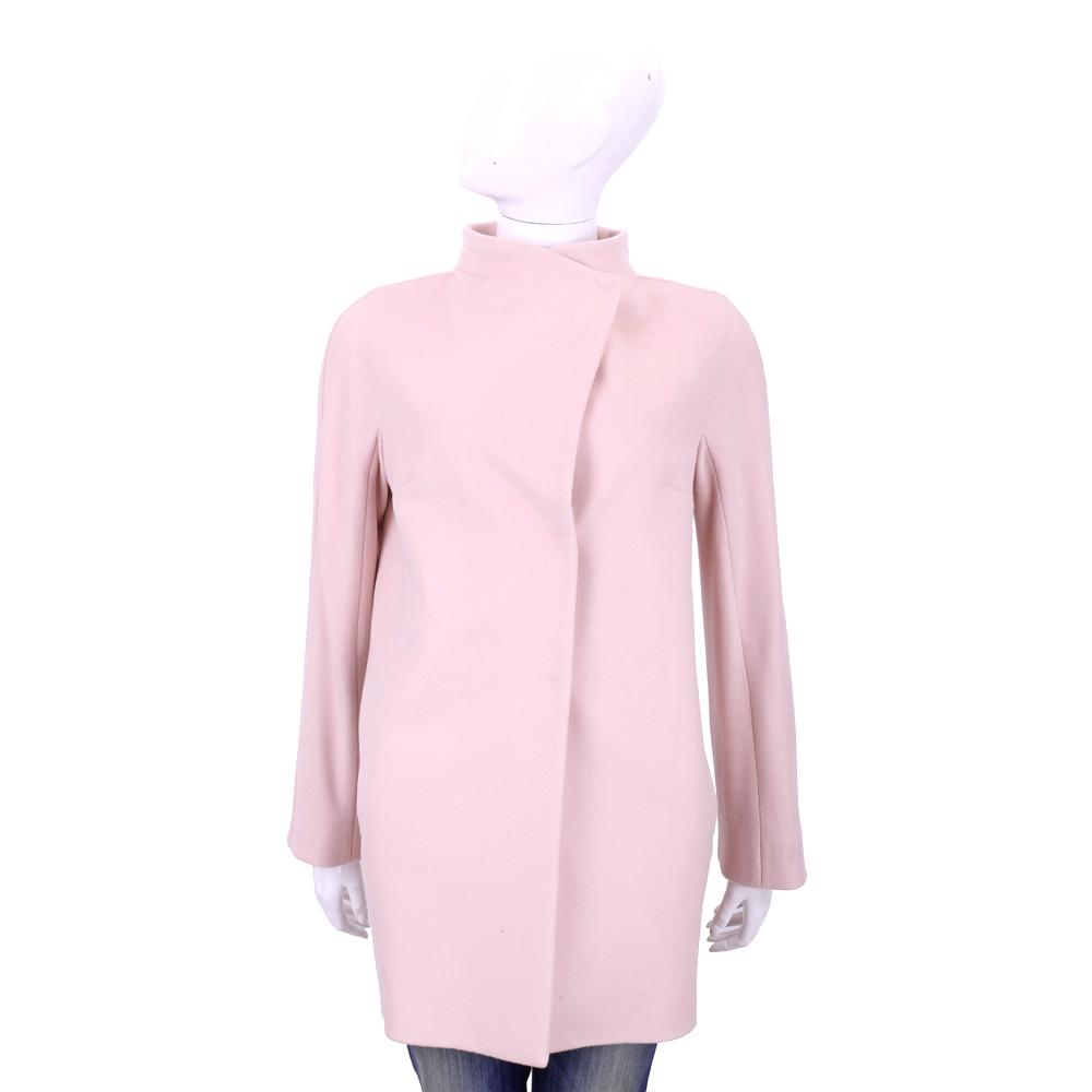 Max Mara 粉色釦式長版大衣