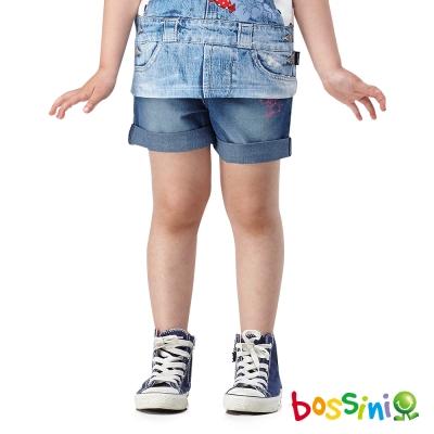 bossini女童-牛仔短褲07靛藍