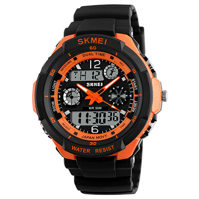 SKMEI 時刻美0931-雙機芯多功能防震防水電子錶(2色任選)