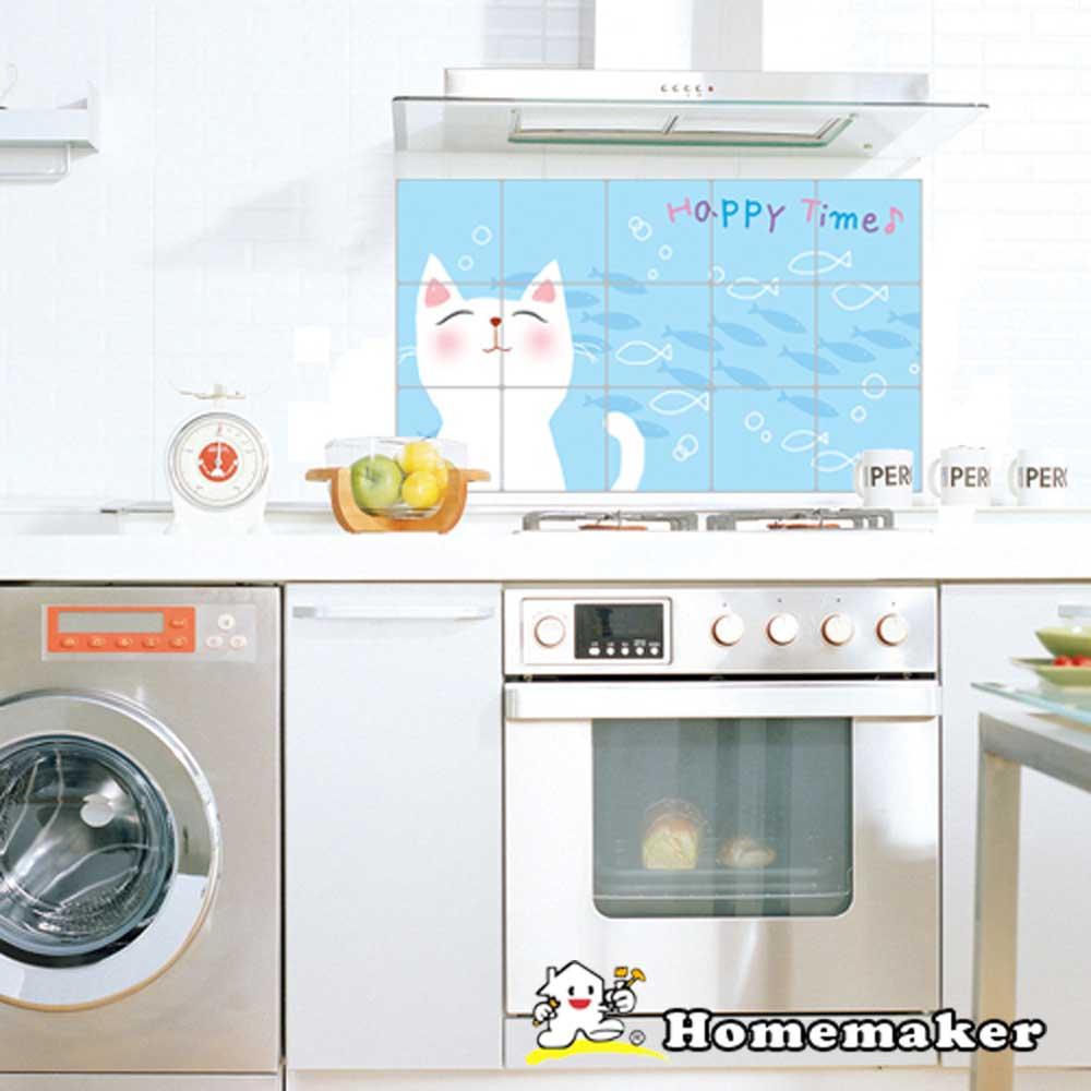 Decoin【快樂貓咪】廚房鋁箔壁貼1入(HS-AL11)