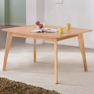 Homelike 小野5尺餐桌-原木色-150x90x75cm