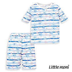 Little moni 家居系列短袖套裝(兩件組)(3色可選)