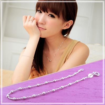 【維克維娜】夢幻世界。時尚大小圓珠設計  925 純銀手鍊