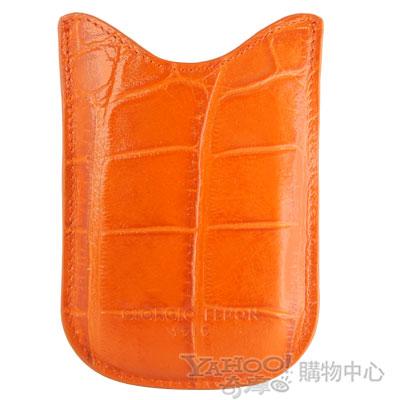 GIORGIO FEDON 1919  手機直套式 鱷魚皮壓紋 橘色