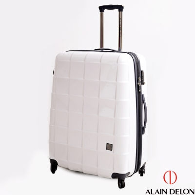 ALAIN DELON亞蘭德倫 29吋時尚方格系列旅行箱(白)