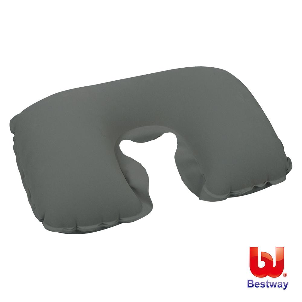 《凡太奇》Bestway。植絨旅行用充氣枕/U型枕/ㄇ型頸枕 67006 - 快速到貨