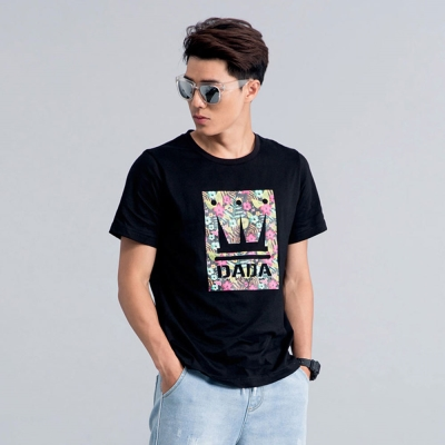 DADA SUPREME 花漾圖騰LOGO T-shirt-男-黑