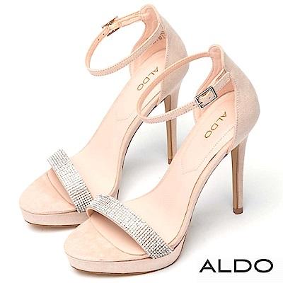 ALDO 仙杜瑞拉滿鑽前高防水台細高跟涼鞋~氣質裸色