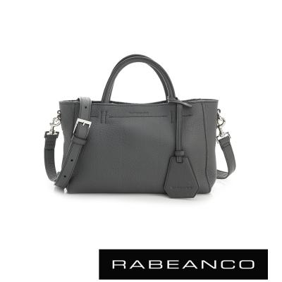 RABEANCO迷時尚系列優雅兩用小手提包(小) - 墨灰