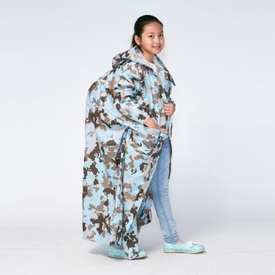 RAINSTORY藍調迷彩連身甜美雨衣(M號)
