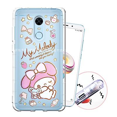 三麗鷗授權 紅米5 Plus 甜蜜系列彩繪空壓殼(小老鼠)