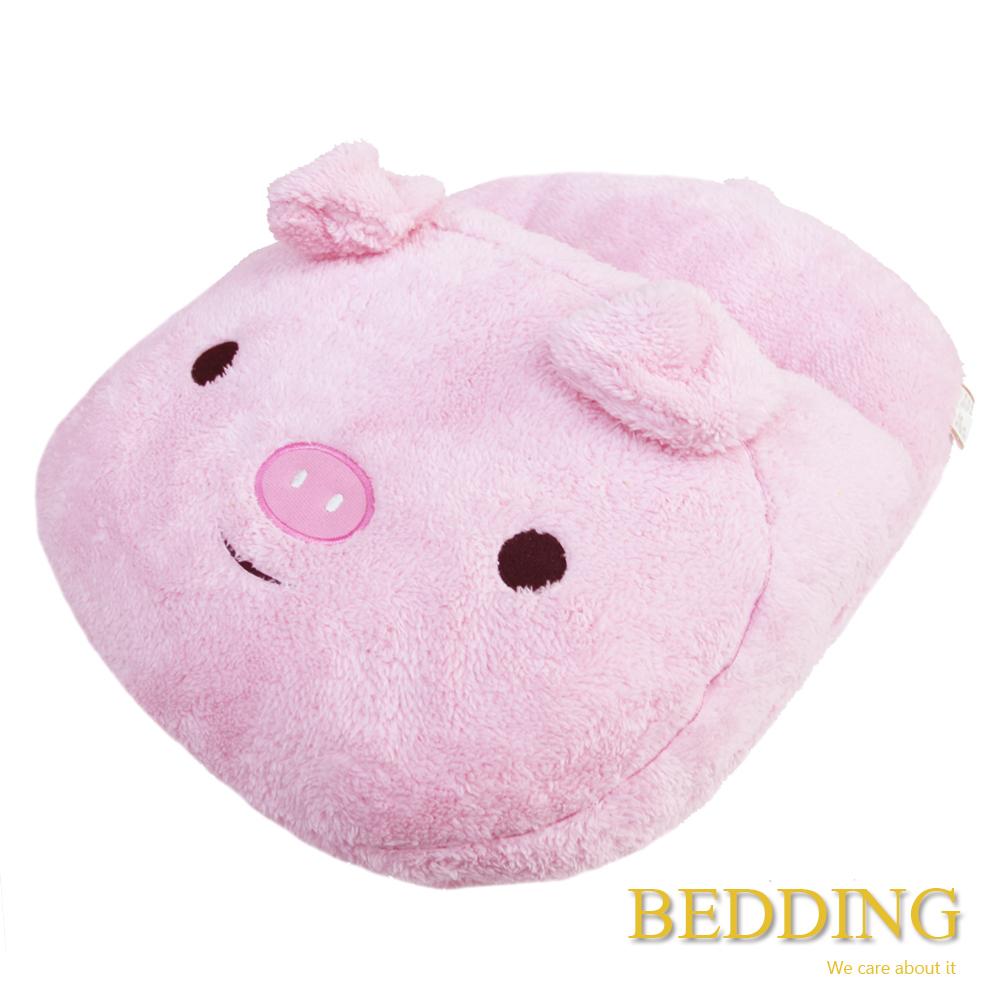 BEDDING  粉豬  毛茸茸保暖造型暖腳枕