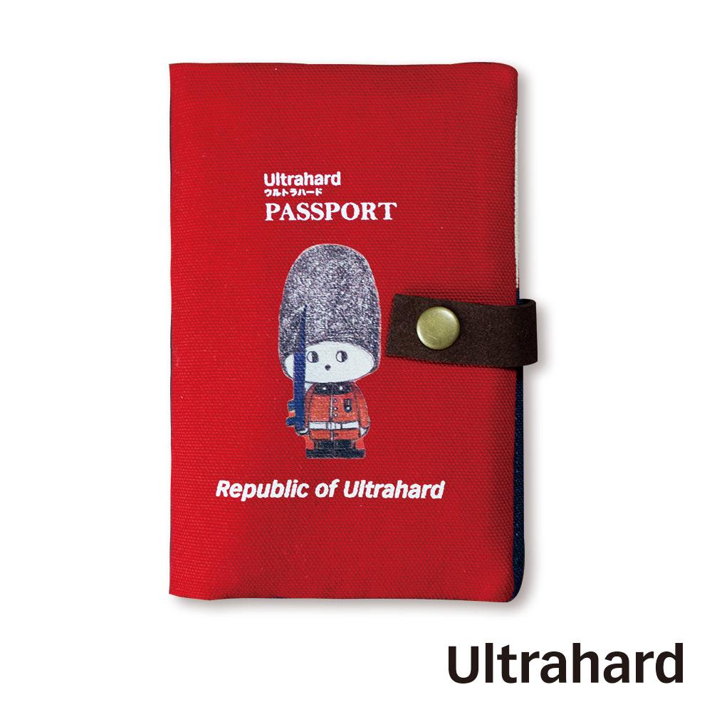 Ultrahard 月見兔中長版護照套-小騎兵(紅)