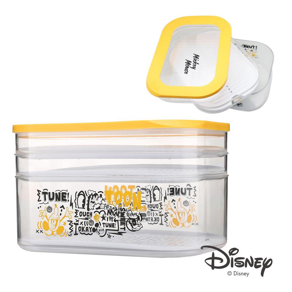 迪士尼Disney 米奇繽紛塗鴉魔術濾格塑膠收納盒3L(8H)