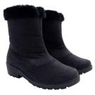 【魅力款】台灣製 女款 中筒專業暖毛保暖雪鞋/雪靴_黑