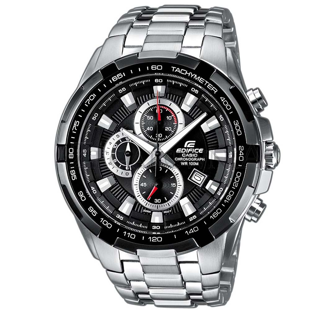 CASIO 科技新貴F1指針賽車錶(EF-539D-1A)-黑色面版/48.5mm