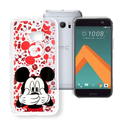 迪士尼 HTC 10 / M10 大頭透明手機軟殼(摀嘴米奇)