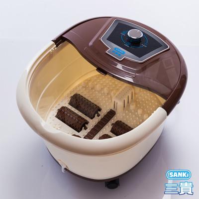 日本SANKi 好福氣加熱SPA足浴機(典雅棕)