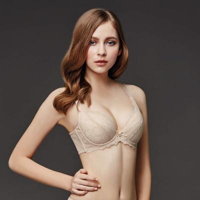 La Felino-文藝赫本3/4罩深V款B-E罩杯內衣 (裸膚)