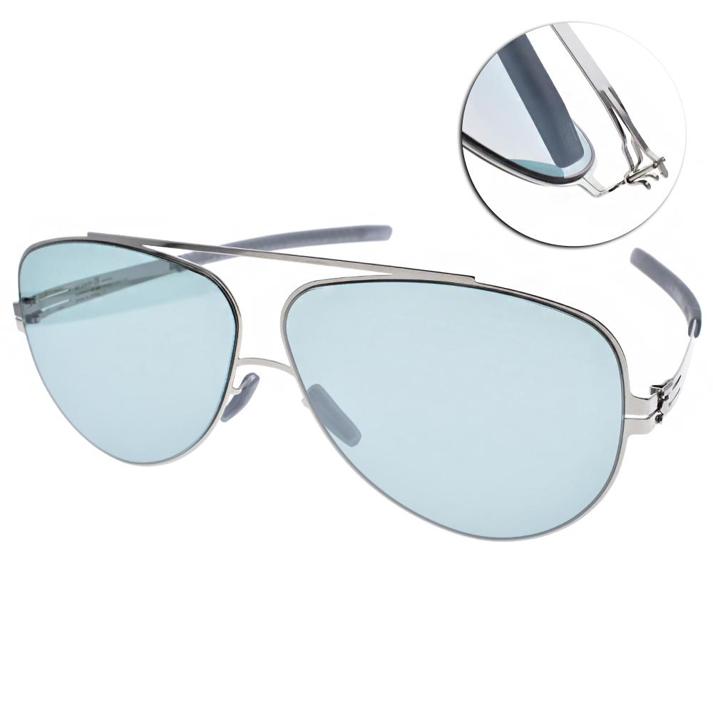ic!berlin太陽眼鏡 薄鋼飛官款/銀#MAIK O. CHROME