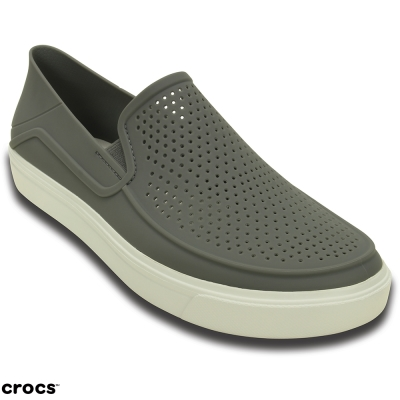 Crocs卡駱馳(男) 都會街頭洛卡便鞋-202363-06X