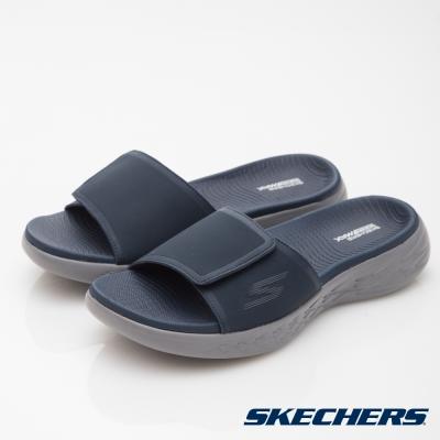 SKECHERS(男)休閒系列ON THE GO CITY600拖鞋-55355NVY